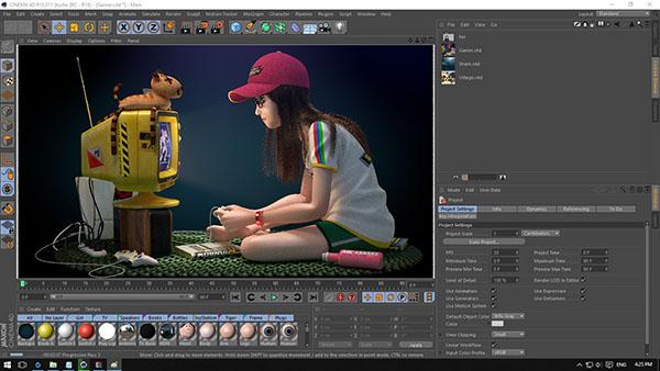 نرم افزار ساخت انیمیشن Cinema-4D
