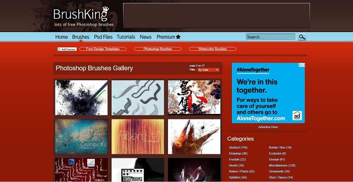 وب سایت براش BrushKing