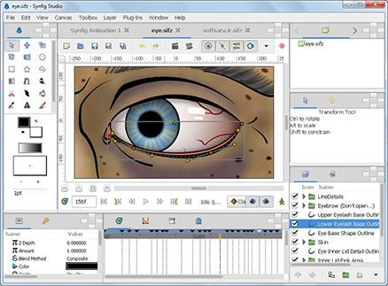 نرم افزار ساخت انیمیشن adobe-animateSynfig Studio