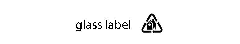 نماد glass label