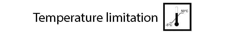 نماد temperature limitation
