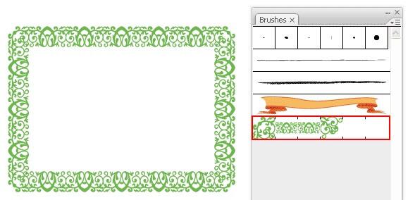 ایجاد یک الگوی حاشیه (Border Pattern)