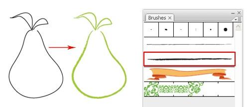 استفاده از Brush Stroke