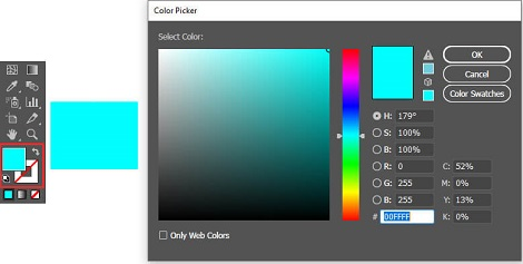 رنگ کردن با استفاده از Color Picker در ایلوستریتور