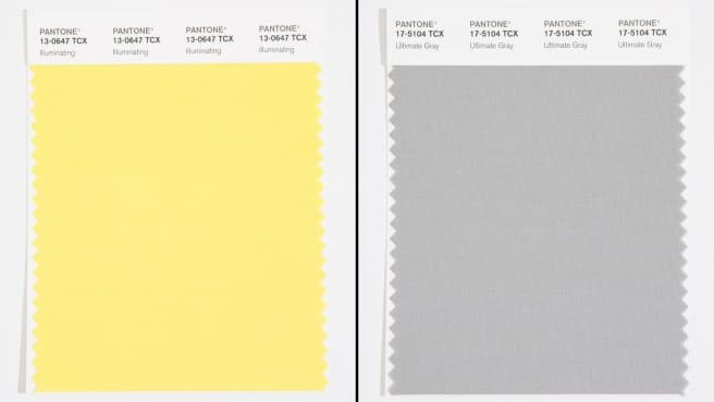 رنگ زرد و خاکستری رنگ سال 2021