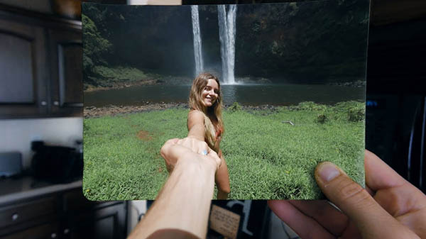 جلوه ی ویژه بیرون کشیدن فرد از تصویر بیرون کشیدن فرد از تصویر