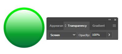 انتخاب دایره سیاه و سفید و اعمال blending mode در حالت Screen