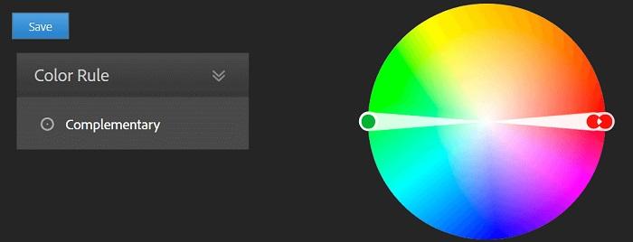 برای انتخاب رنگ سایت از رنگ های مکمل استفاده کنید