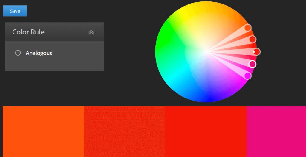 پیاده سازی رنگ های انتخابی در وب سایت