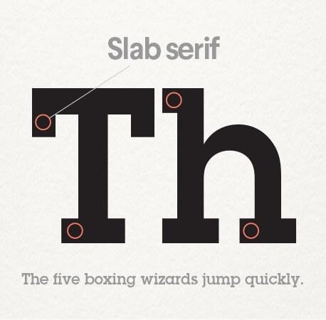 فونت Slab serifs