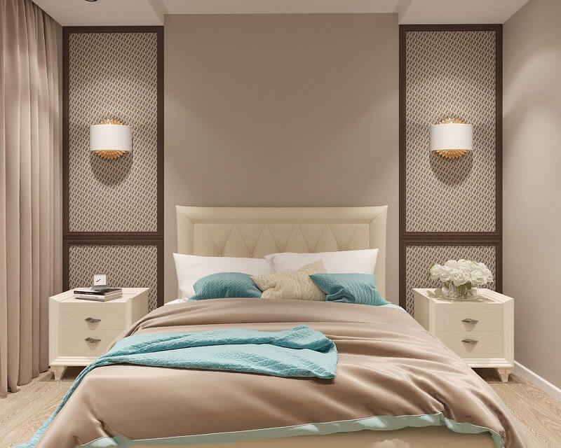 رنگ های پاستلی در اتاق خواب
