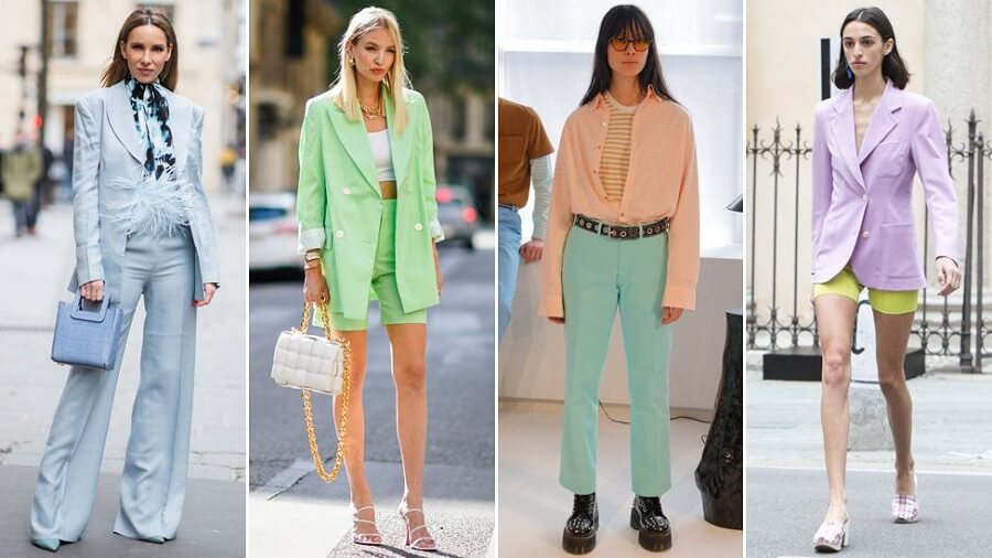 مدل رنگ های پاستلی در لباس