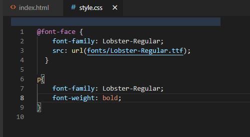 اضافه کردن وب فونت به کد ها