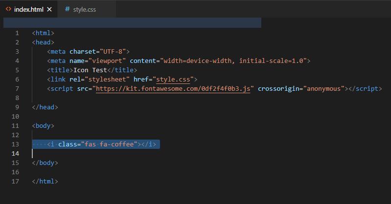 اضافه کردن کد آیکون