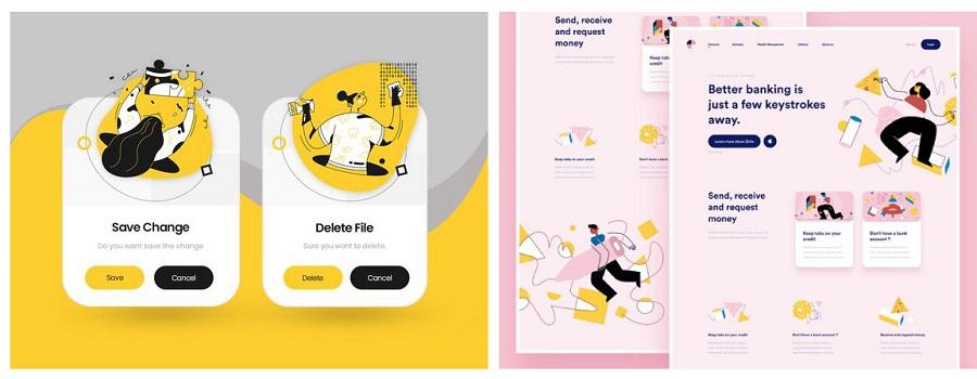 رنگ های پاستلی در طراحی وب سایت