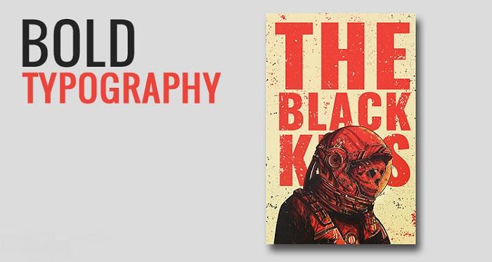 تایپوگرافی پررنگ از روند های طراحی جلد کتاب