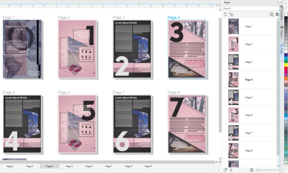 Pages Docker / Inspector و نمای چند صفحه ای