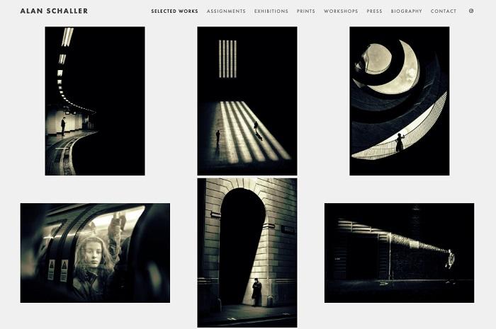 نمونه طراحی وب سایت عکاسی آلن شالر