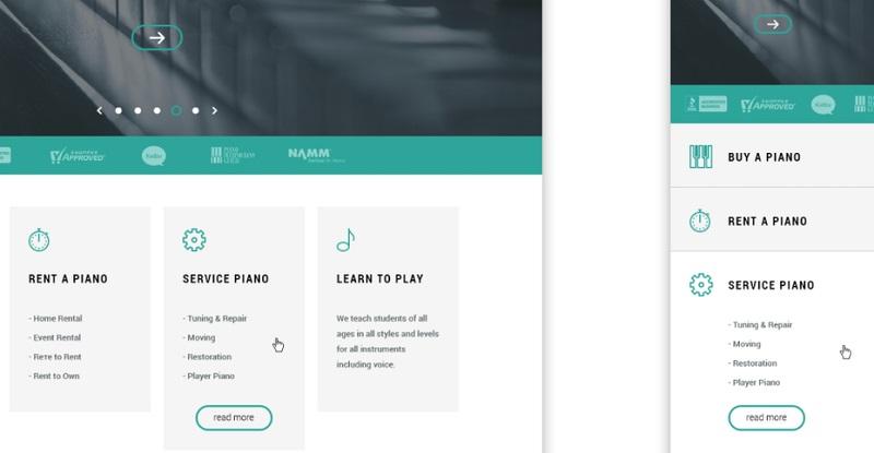 اذغام محتوای تکراری در طراحی وب سایت سازگار با موبایل