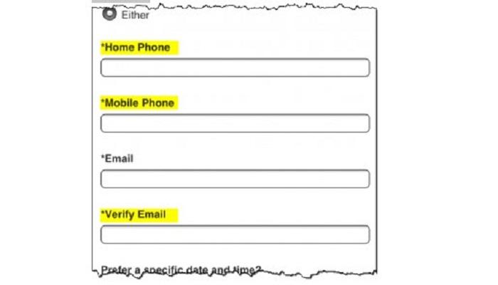 فرم ها در تجربه کابری موبایل