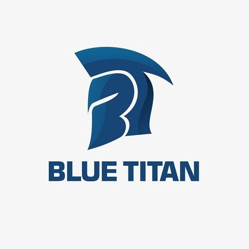 انتخاب رنگ آبی در لوگو