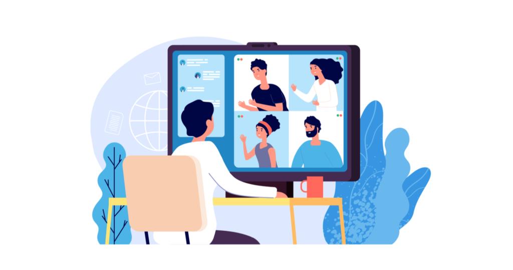 همکاری اعضای تیم طراحی وب موفق