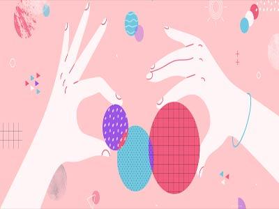 طراحان از اشکال دایره برای انتقال حس زنانگی و لطافت استفاده می کنند.