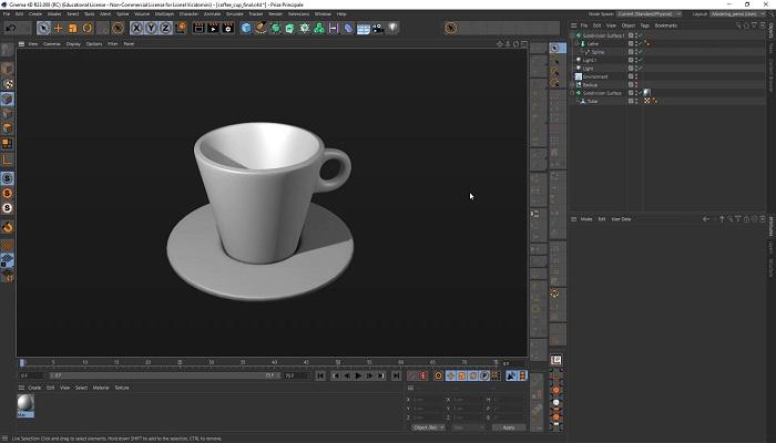 برنامه ساخت مدل سینما 4D