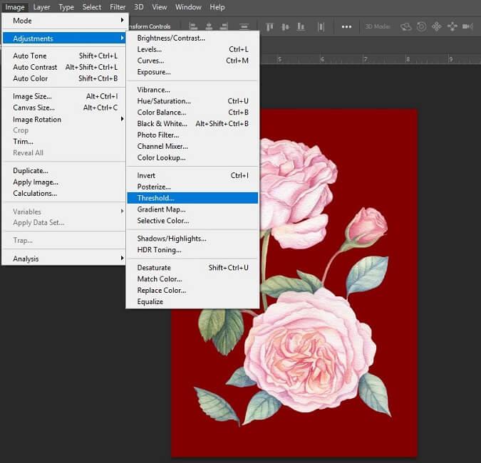 برای طراحی تیشرت با فتوشاپ تصویر مورد نظر را ویرایش کنید