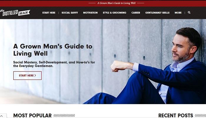 طراحی سایت مردانه