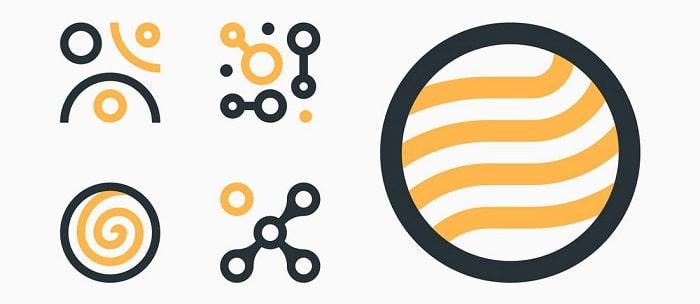 انواع شکل های Abstract در طراحی آیکون